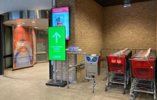 Delhaize Belgium устанавливает систему дезинфекции Orange Cleaning